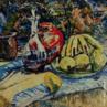 Pintura do Artista Guido Viaro. A obra é de 1954 e a técnica utilizada é óleo sobre tela, com dimensões de 61,5 x 79 cm.