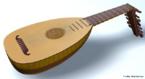 Instrumento musical de corda muito utilizado na antiguidade. <br/><br/> Palavras-chave: Instrumento musical. Alaúde. Instrumento de corda.