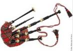 Instrumento antigo que pertence à família dos instrumentos de sopro constituída por um saco (fole) ligado a vários tubos.