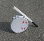 O tamborim é um instrumento de percussão. Tem a forma de tambor pequeno. No Brasil, é usado especialmente nas danças cantadas de origem africana, como maracatus e cucumbis. O executante segura com a mão e o percute com uma baqueta ou com a outra mão. É um instrumento indispensável na batucada e no samba. Nas baterias das escolas de samba e em outros conjuntos usa-se o tamborim industrializado com um pequeno aro de metal ou acrílico recoberto por pele em uma das bordas, percutido com vareta de bambu, madeira ou plástico, medindo, aproximadamente, 5 cm de altura por 15 cm de diâmetro. Também é usado em orquestras de música erudita.